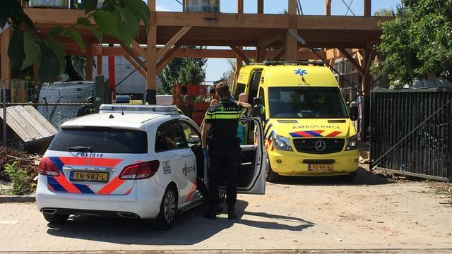 Man gewond op bouwplaats in Tongelre na val van negen meter