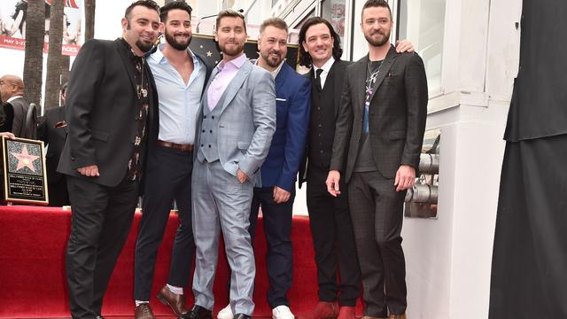 Boyband *NSYNC onthult ster op Hollywood Walk of Fame