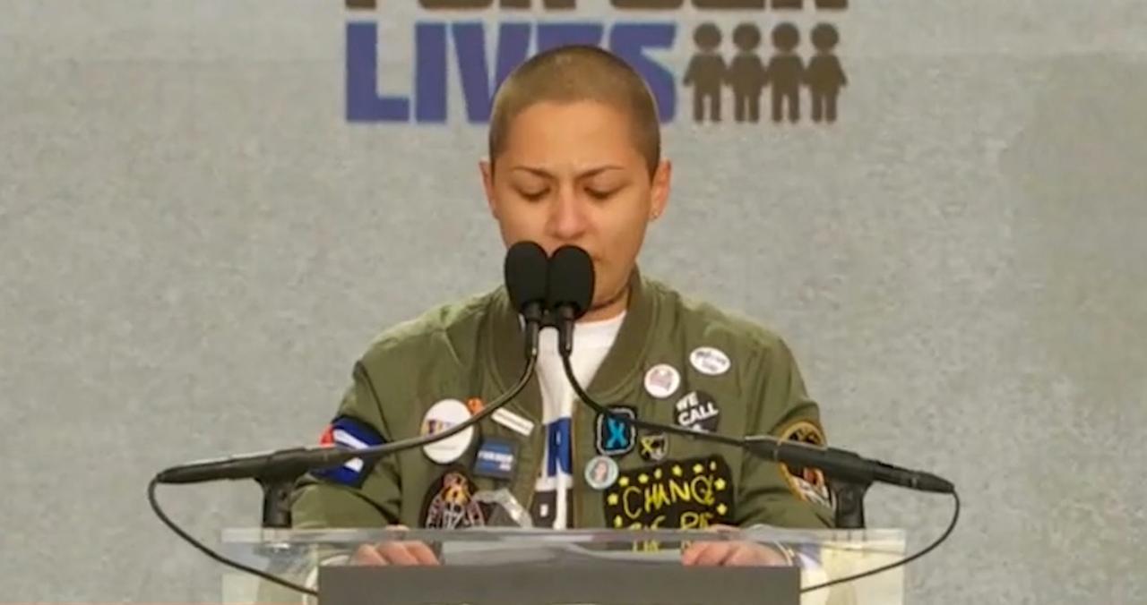 Emma Gonzalez gebruikt stilte als wapen in speech