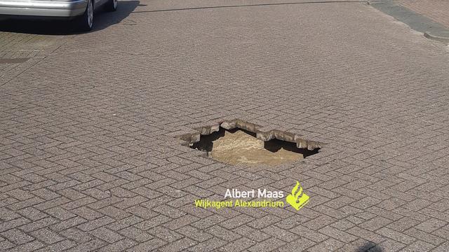 Zinkgat ontstaan bij Aluminiumstraat in Rotterdam