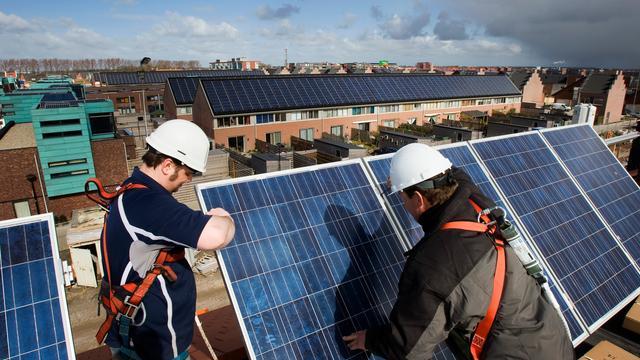 Opbrengst zonnepanelen in 2018 naar recordhoogte