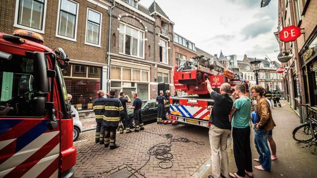 Brand in studentenhuis Jansdam