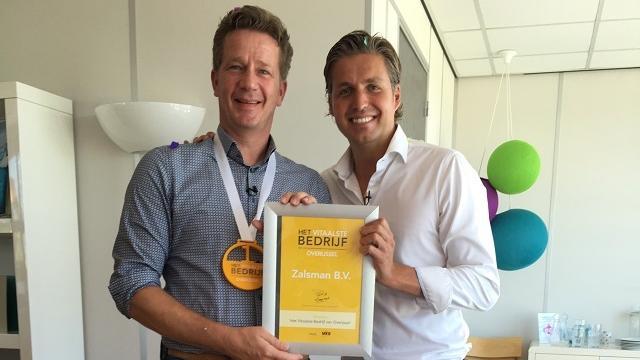 Zalsman uit Zwolle is het Vitaalste Bedrijf van Overijssel
