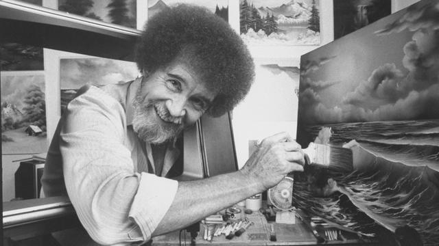 Eerste solotentoonstelling televisiefenomeen Bob Ross in Gelders museum