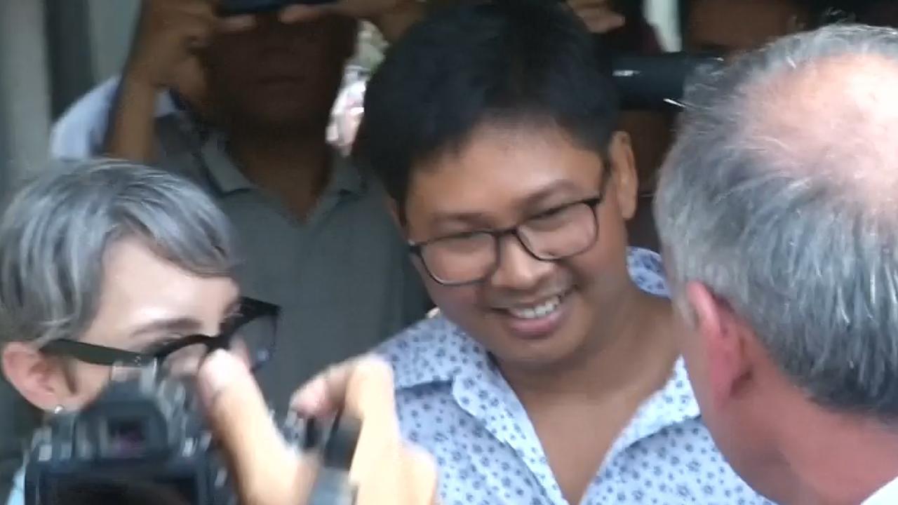 Journalisten in Myanmar zetten eerste stappen buiten gevangenis