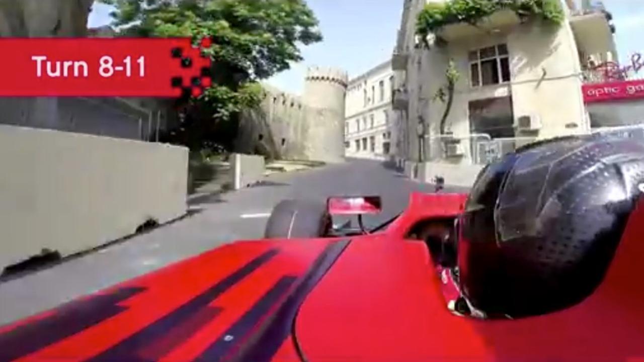 Eerste onboardbeelden stratencircuit van Baku