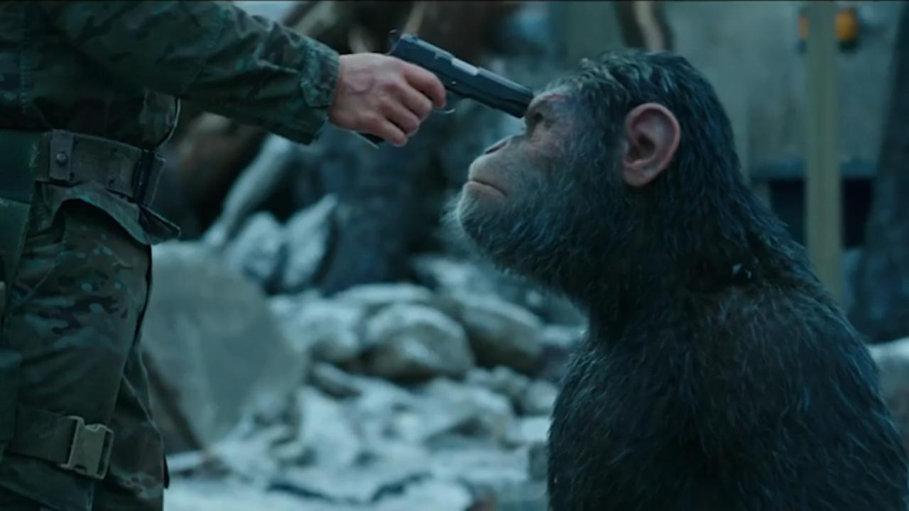 Meedogenloze apen vechten voor vrijheid in trailer War for the Planet of the Apes
