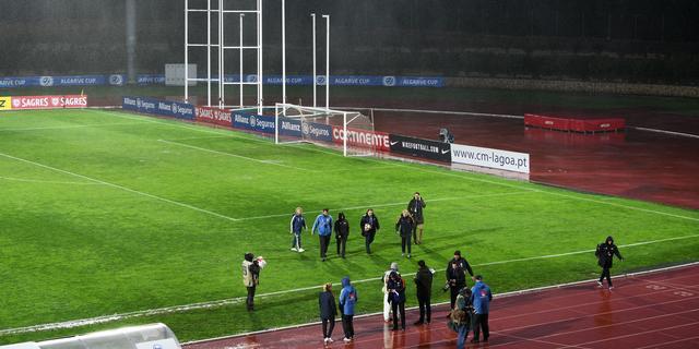 Finale Algarve Cup tussen Oranje en Zweden afgelast wegens regenval