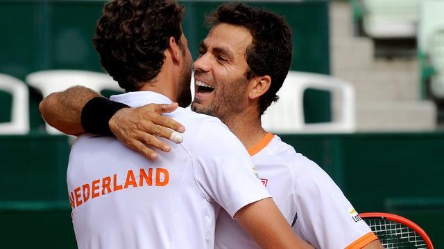 Tennissers weer op voorsprong tegen Oostenrijk na gewonnen dubbel