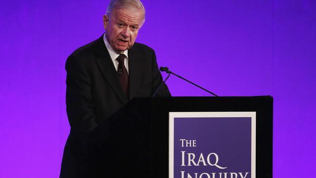 'Britse invasie in Irak was geen laatste optie'