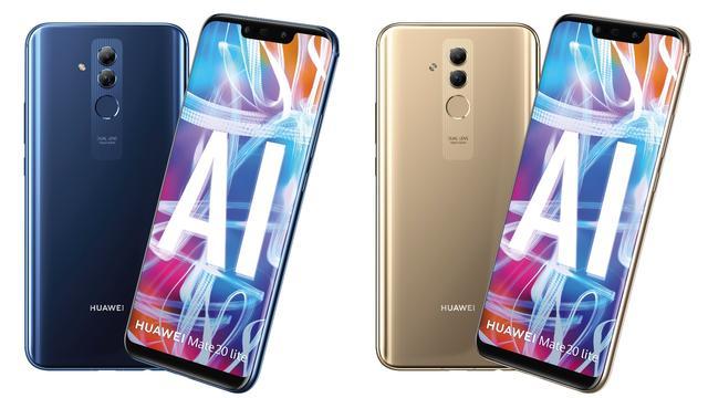 Huawei presenteert grote smartphone Mate 20 Lite
