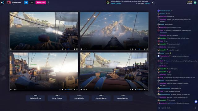 Co-streaming in Mixer