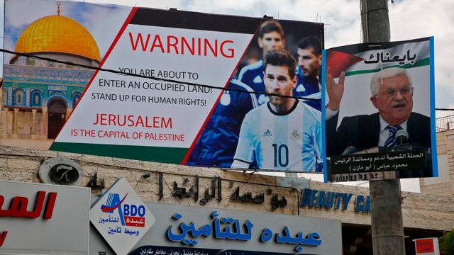 Palestijnse voetbalbaas voor jaar geschorst wegens opruiende uitlatingen
