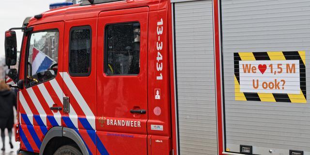 Brandweer rukt uit voor stormschade op Kolkrijst in Hoogland