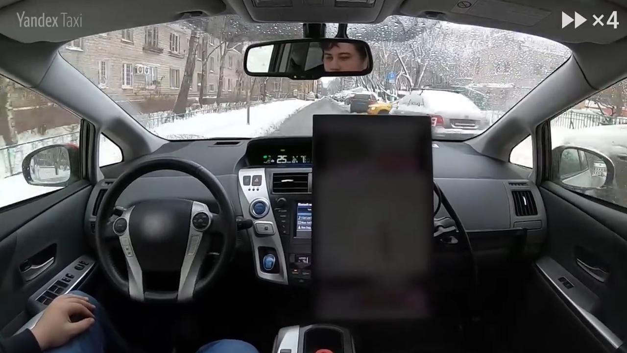 Russische zoekgigant test zelfrijdende auto in straten Moskou