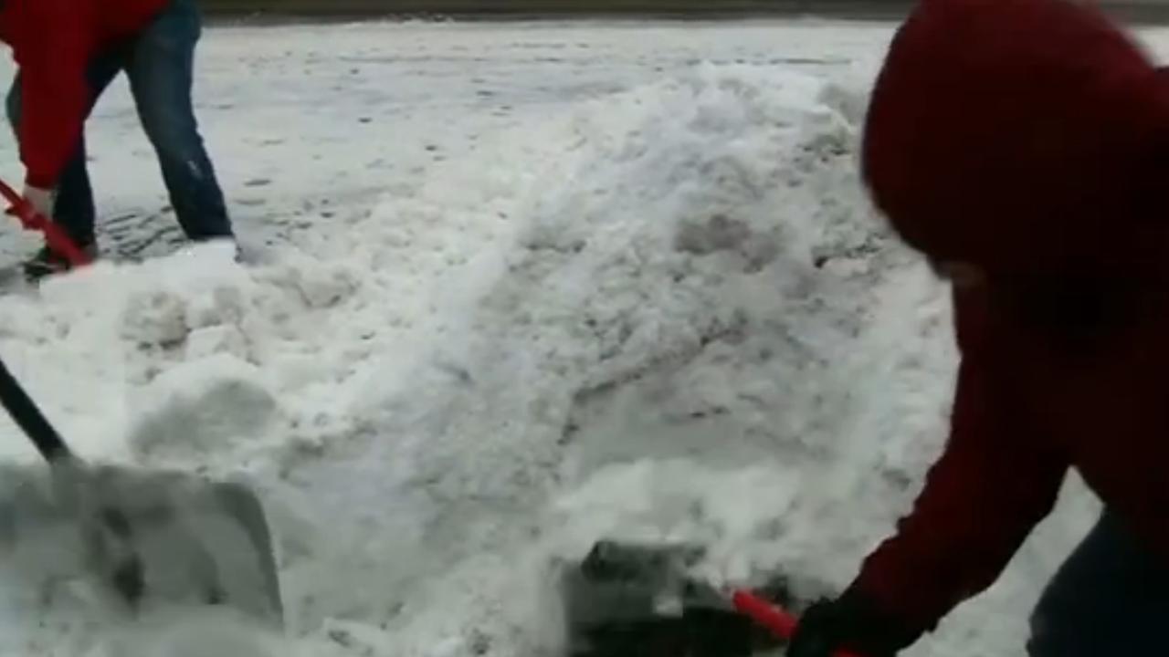 Veel overlast door hevige sneeuwval Washington