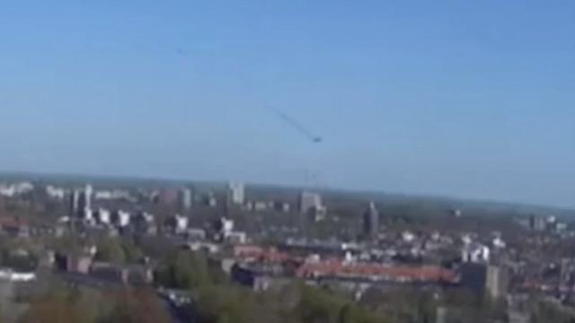 Webcam filmt mogelijke meorietinslag in Groningen