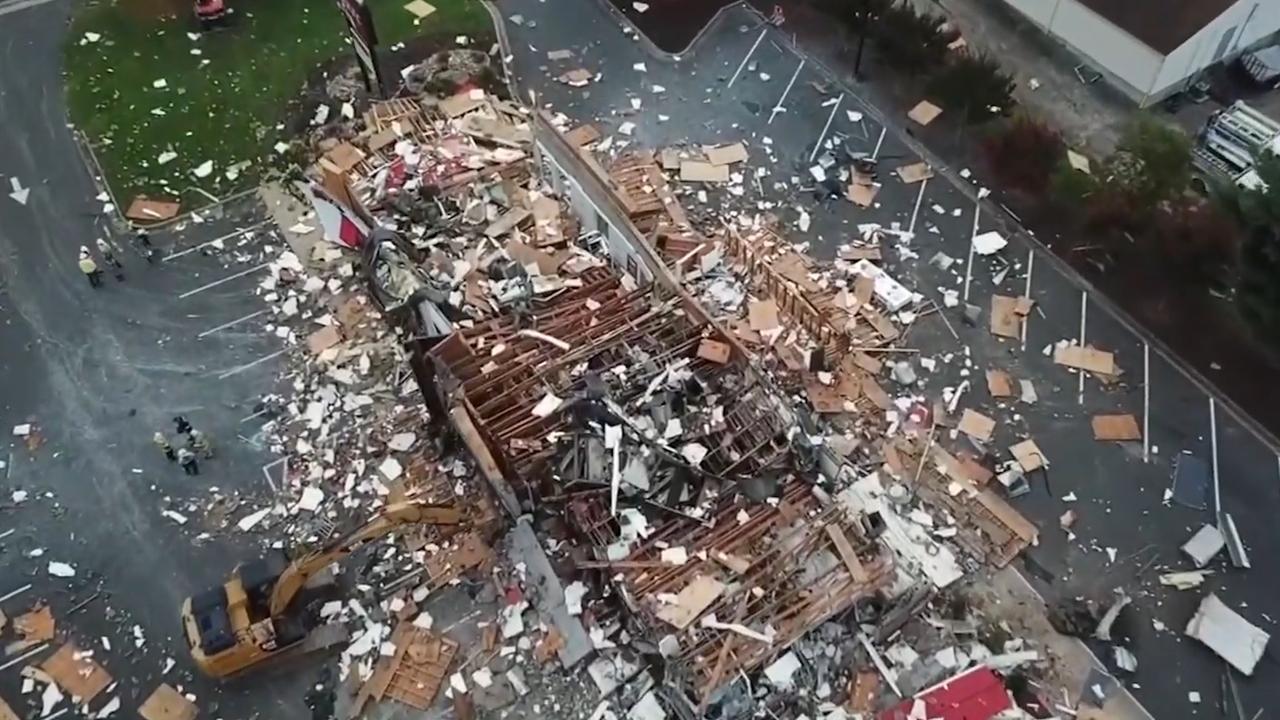 Gasexplosie veegt Amerikaanse KFC van de kaart