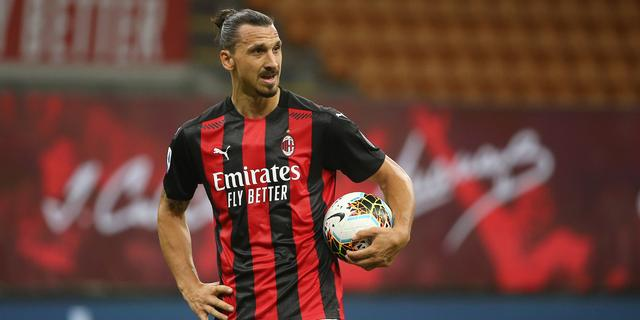 AC Milan-spits Ibrahimovic test positief op coronavirus