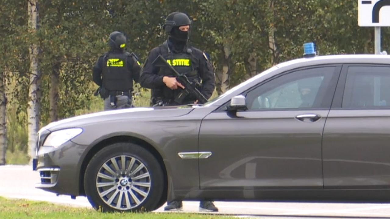 Zwaarbewapende marechaussees ingezet bij proces-Taghi