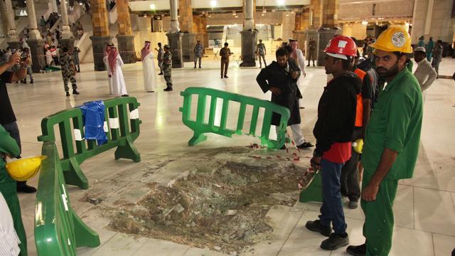 Saudi-Arabië onderzoekt ongeluk met bouwkraan Mekka