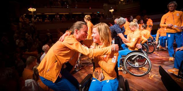 Nederlands paralympisch team feestelijk gehuldigd in Utrecht