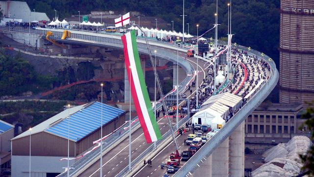 Twee jaar na instorten brug in Italiaanse Genua is nieuwe overgang geopend