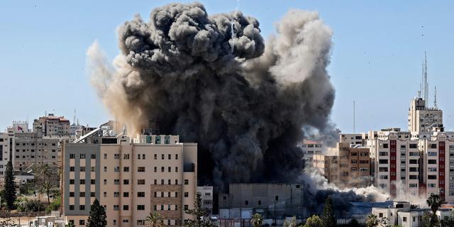Kantoorpand van internationale media in Gazastrook ingestort na raketaanval