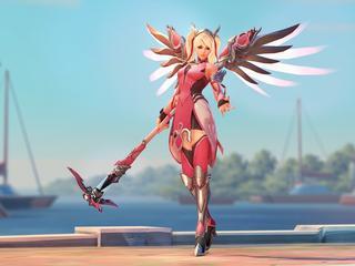 Met verkoop roze kostuum voor Mercy