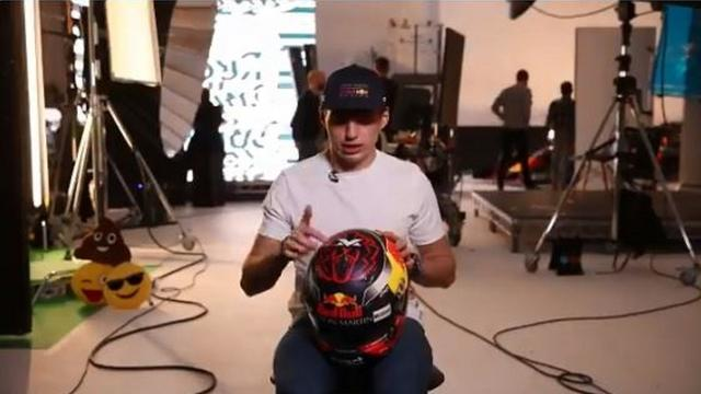 Verstappen onthult nieuwe helm voor komend Formule 1-seizoen