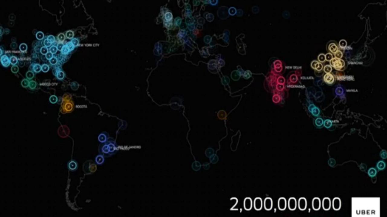 Twee miljardste rit met Uber gemaakt