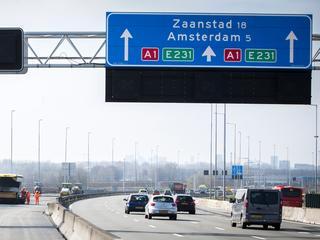 18 kilometer file tussen Apeldoorn en Amsterdam