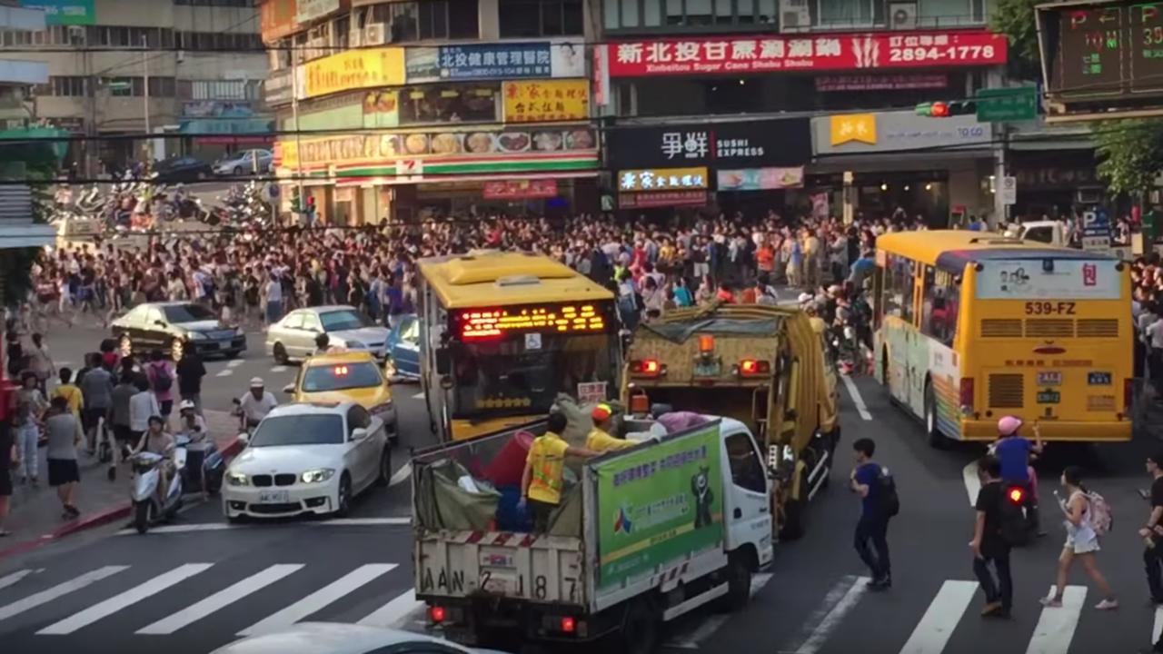 Duizenden mensen bestormen straten Taiwan om Pokémon Go