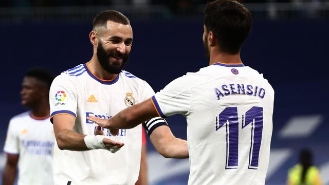 Karim Benzema en Marco Asensio zorgden gezamenlijk voor vijf goals namens Real Madrid.
