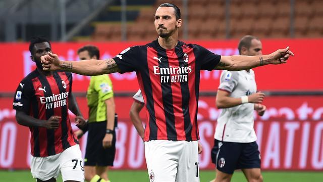 Ibrahimovic na twee goals voor Milan: 'Vroeger had ik er nog twee gemaakt'