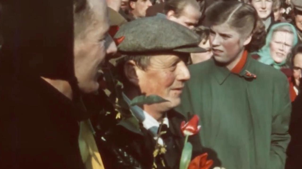 Oudste kleurenfilm van de Elfstedentocht in 1954