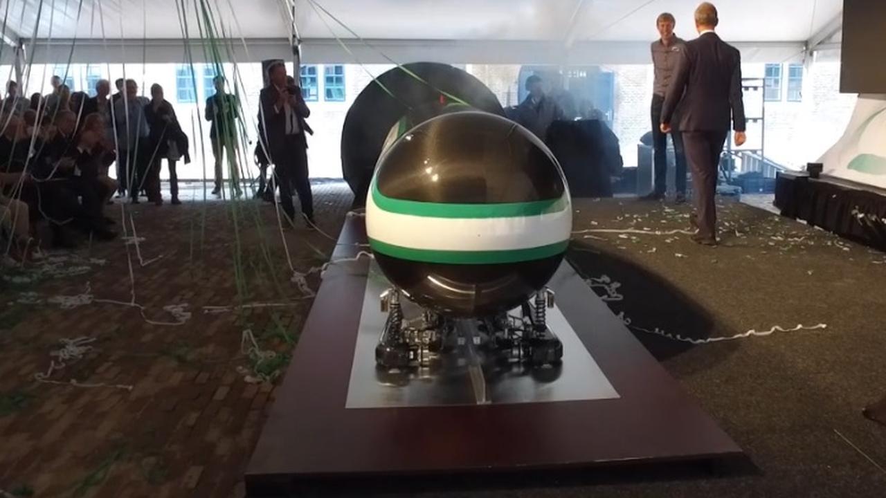 TU Delft onthult supersnelle Hyperlooptrein