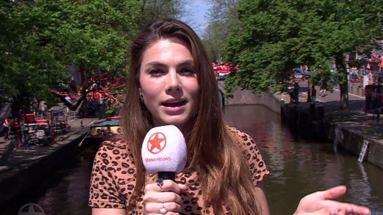 Lisa Michels op setbezoek bij Gek van Oranje