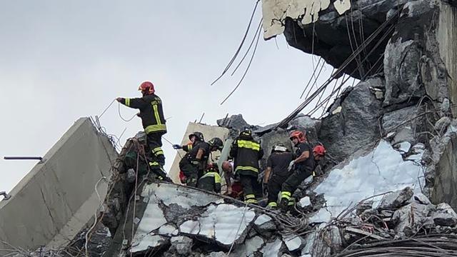 'Dodental na instorten hangbrug Genua naar 35', veel zwaargewonden