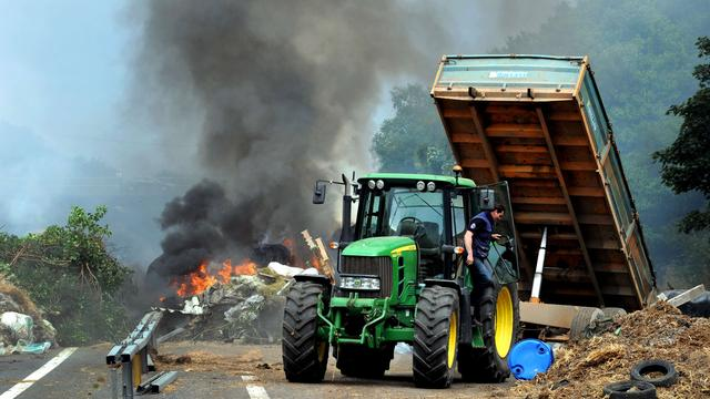 Nog steeds hinder rond Lyon ondanks opheffen blokkades Franse boeren