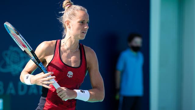 Arantxa Rus krijgt het niet makkelijk in de openingsronde van de Australian Open.