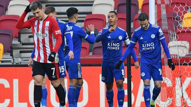 Leicester City maakte geen fout tegen Brentford.