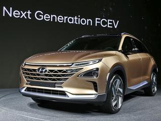 Hyundai presenteert een nieuwe waterstof-auto.