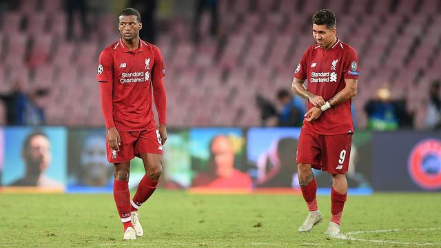 Kritische Wijnaldum ziet nederlaag Liverpool in Napels als 'realitycheck'