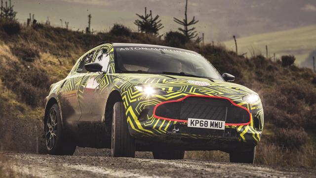 Aston Martin begint met testwerk voor nieuwe SUV