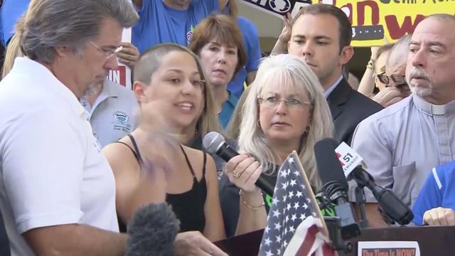Getuige schietpartij Florida houdt emotionele speech