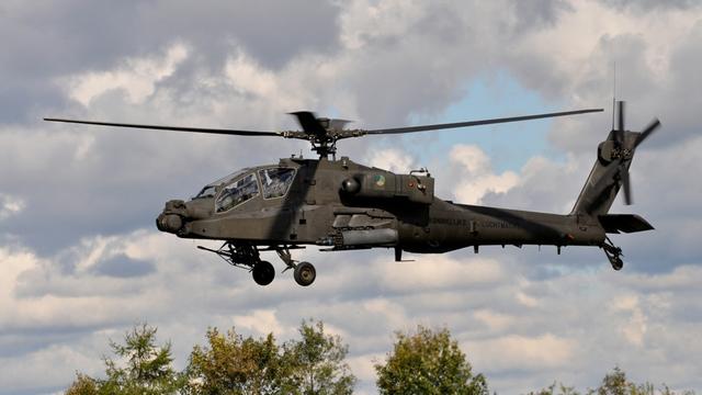 Defensie houdt oefening met helikopters bij Rucphense hei