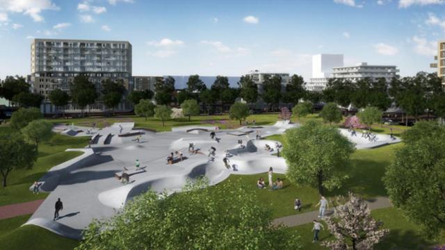 Amsterdam krijgt enorm skatepark op Zeeburgereiland