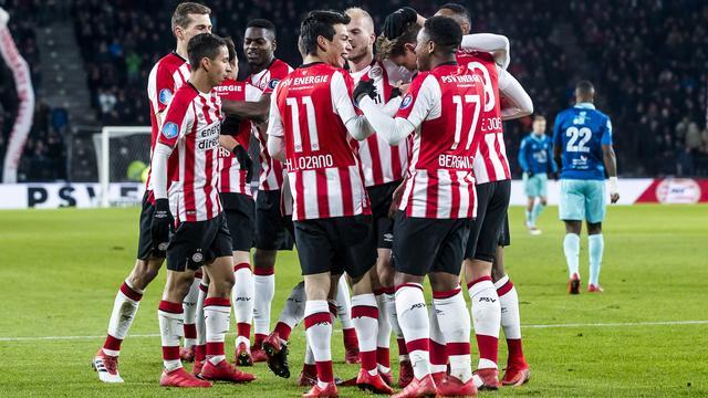 PSV vestigt clubrecord met benauwde thuiszege op Excelsior