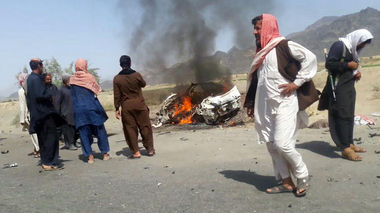 Lichaam leider Taliban Mansour weggehaald